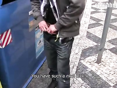 Public pick-up of a shy young twink