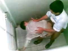 Public toilet smashing arab banging