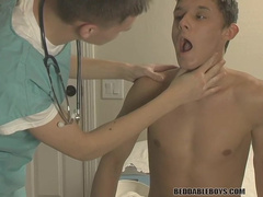 Dazzling twink seduced by a handsome doctor