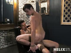 Young brunette dude got seduced by twink