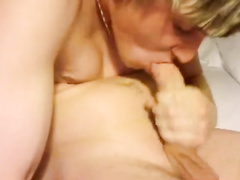 Awesomely flexible dude is tightly sucking dick