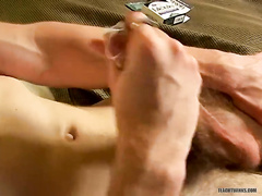 Sultry Brandon is playing with his hairy dick