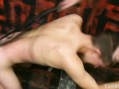 Rude gay fucker is punishing his skinny boyfriend