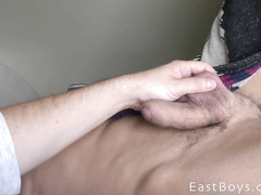 Handsome cutie twink got hotly fondled by hungry gay