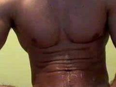 Handsome gay tastes his nasty cum after dick masturbation