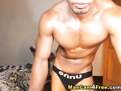 Slender hot twink is excitingly posing strong body shape