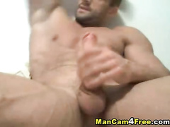 Rocky strong muscled fucker twink is pleasuring dick masturbation