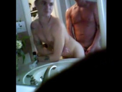 Hunk fondles his stepson and fucks him hot in the bathroom