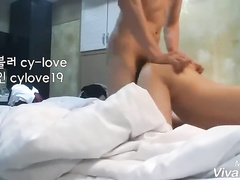 Asian twink boyfriends are pleasuring hot gay doggystyle anal fuck