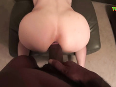Teen twink enjoys rough interracial gay fuck with black hunk boyfriend
