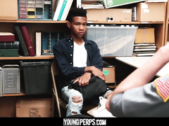 Dirty high school security fucks teen black twink student